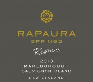 Reserve Sauvignon Blanc 2013 Front Label