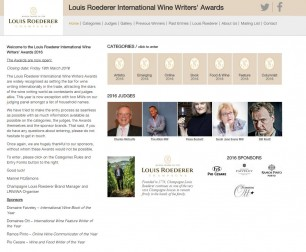 Louis Roederer International Wine Writers' Awards 2016 OPEN