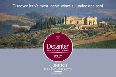 Join MMD at the Decanter Italian Fine Wine Encounter
