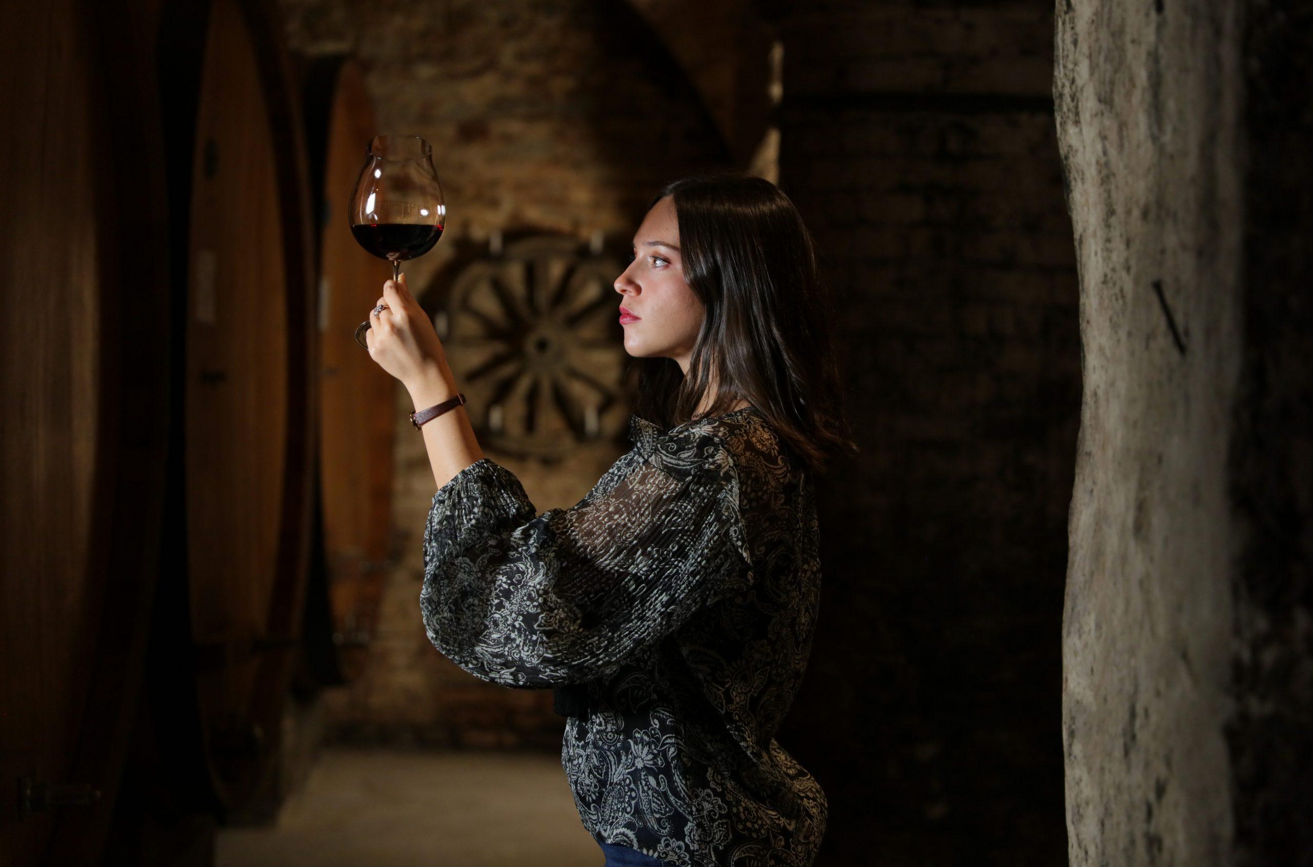 Federica Boffa in the cellar