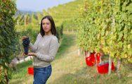 Federica Boffa in the vineyards