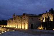 Marqués de Murrieta Castillo at night