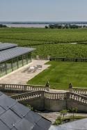 Pichon Lalande vineyards overlooking the Gironde