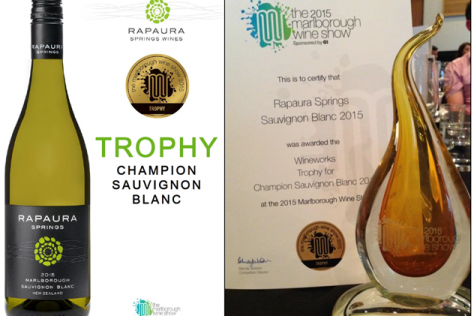 Rapaura Springs clean up at Marlborough Wine Show