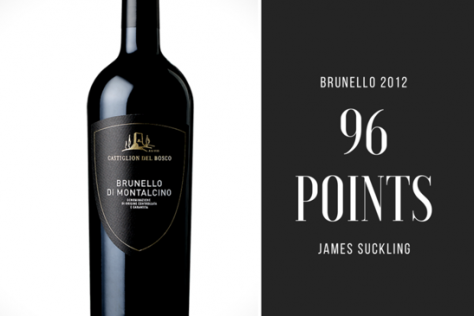 "Castiglion del Bosco in the Top 5 on James Suckling's ""Top 25 Brunello 2012"""