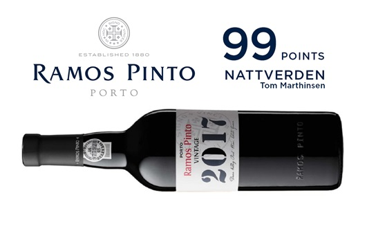 Excellent Score for Ramos Pinto's Vintage 2017!